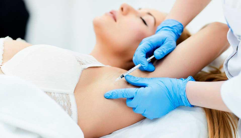 Избавиться от пота при лечении чрезмерного потоотделения гипергидроза Ботокс в лоб и межбровье